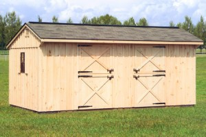 10 x 20 Two Stall Barn with Optional Ridge Vent