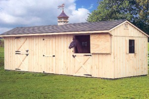 10 x 30 Horse Barn with Optional Cupola and Weather Vane