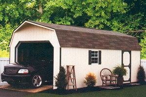 12 x 24 High Wall Barn Garage