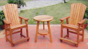 Adirondack Balcony Chairs with Cafe Table