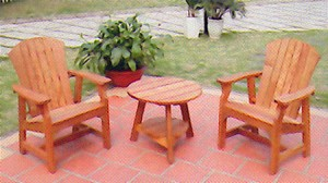 Adirondack Deck Chairs with Side Table