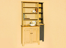 Step Back Bookcase with Hutch